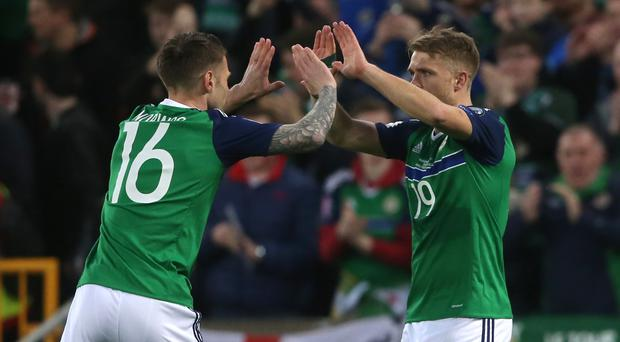Jamie Ward, right, scored after just 87 seconds on Sunday