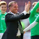 Smiles all round: Brendan Rodgers has taken Celtic to the next level
