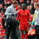 Worry: Sadio Mane sustained a potentially season-ending injury against Everton on Saturday