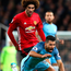 Flashpoint: Marouane Fellaini fouls Sergio Aguero before going on to headbutt the City striker and earning red