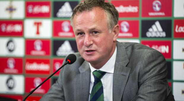 Michael O'Neill, pictured, praised Liam Boyce after his maiden international goal