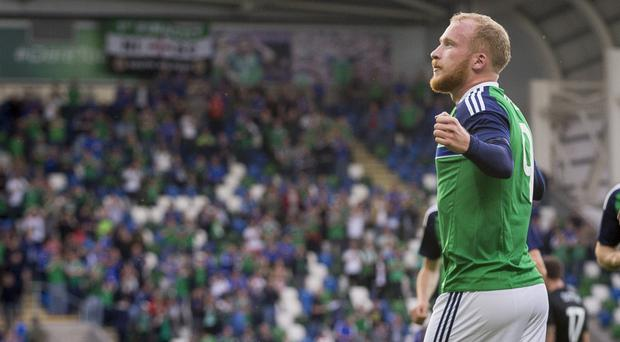 Liam Boyce opened his international account on Friday night
