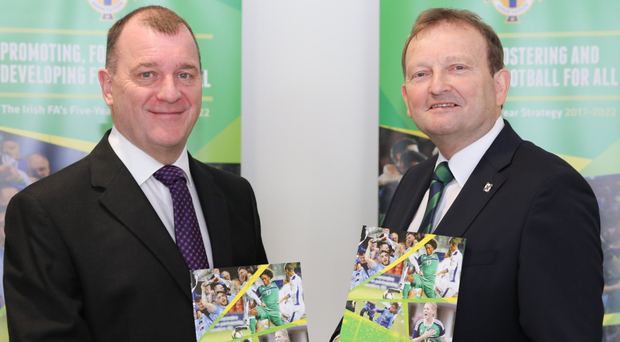 Looking ahead: IFA chief executive Patrick Nelson and president David Martin launch the five-year strategy