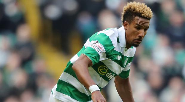 Scott Sinclair gave Celtic the lead against Linfield