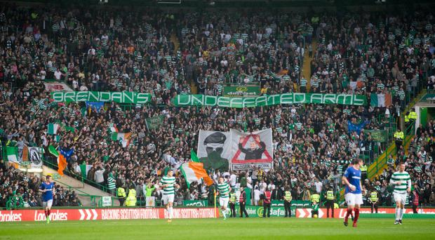 Celtic were punished for this banner display