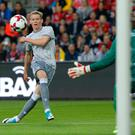 Super sub: Scott McTominay scores United's third goal against Norwegian side Valerenga