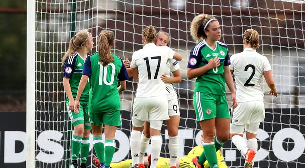 That was to be as good as it got as Northern Ireland's tournament ended with a 6-0 defeat to Germany.