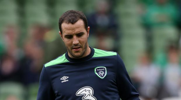 Defender John O'Shea sat out Republic of Ireland training with a tight calf