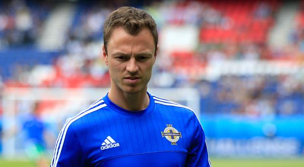 Jonny Evans has spent the week training with Northern Ireland at Manchester City's training base