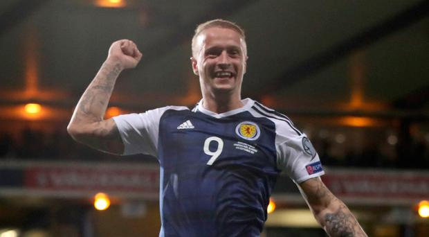 Great Scot: Leigh Griffiths celebrates his goal