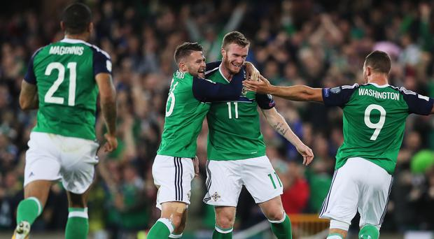 Chris Brunt scored Northern Ireland's second goal against the Czech Republic