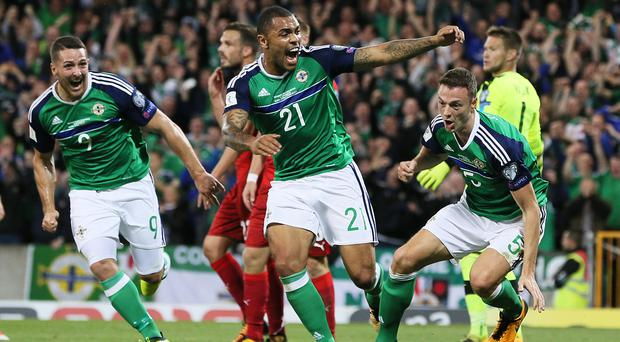 Jonny Evans, right, produced another terrific performance