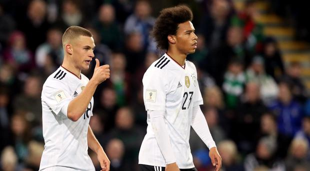 Northern Ireland could not cope with Joshua Kimmich, left