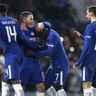 Chelsea's Eden Hazard celebrates the win over Norwich (Tim Goode/EMPICS)