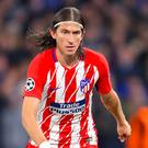 Atletico Madrid defender Filipe Luis is set for an extended spell on the sidelines