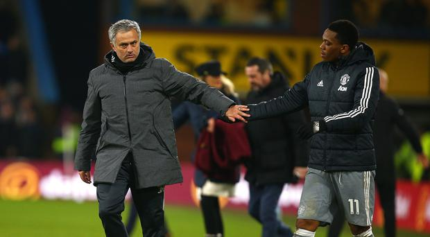 Anthony Martial, right, has earned Jose Mourinho's praise (Dave Thompson/PA Images)