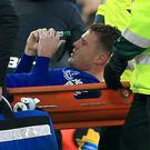 James McCarthy sustained a double leg break in the 1-1 draw against West Brom