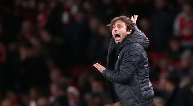 Chelsea manager Antonio Conte gestures on the touchline