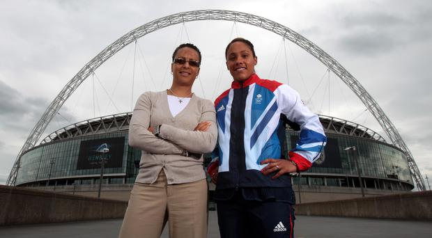 Hope Powell and Alex Scott