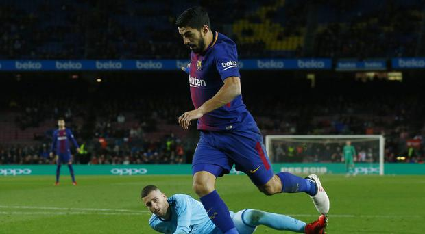 Luis Suarez netted the winner for Barca