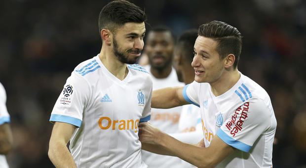 Morgan Sanson (left) and Florian Thauvin (right)