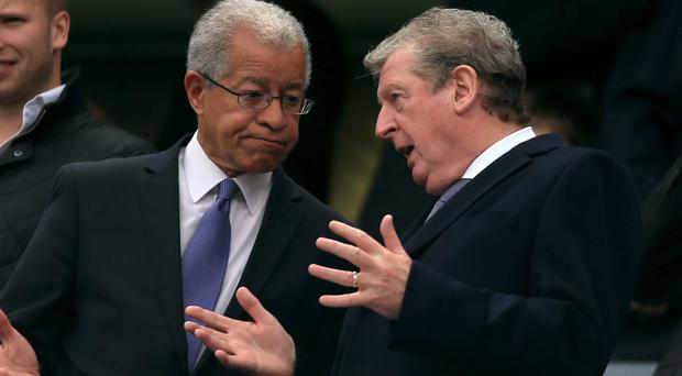 Lord Ouseley (left)