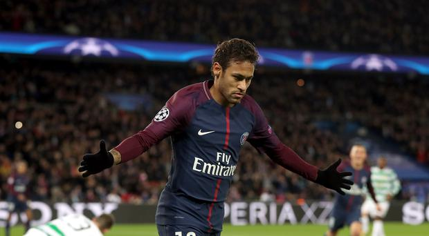 Neymar was Paris St Germain's matchwinner and twice hit the woodwork