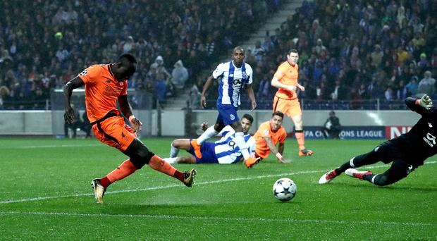 Sadio Mane scored three goals as Liverpool beat Porto 5-0 in the Champions League