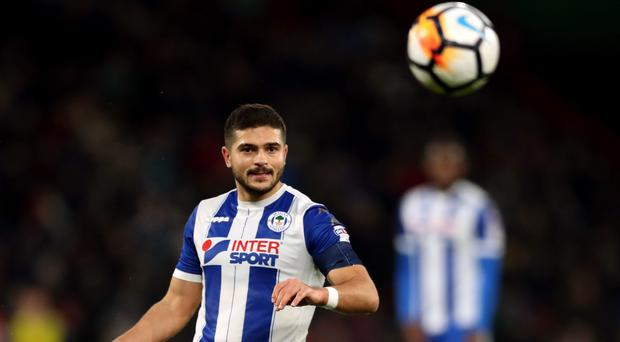 Wigan will be without suspended skipper Sam Morsy against Manchester City
