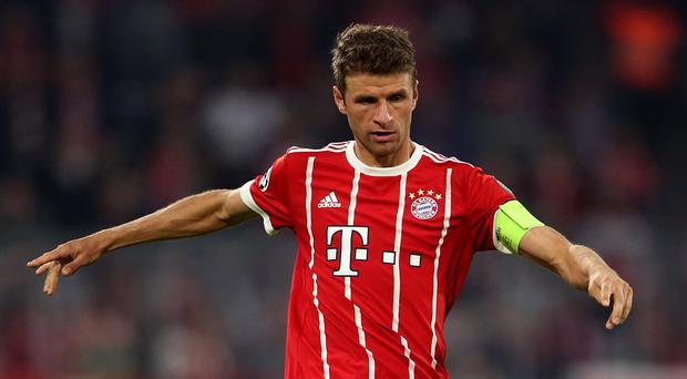 Thomas Muller netted twice in Bayern Munich's win (Steven Paston/EMPICS)