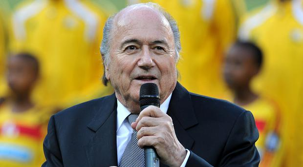 Sepp Blatter at the 2010 World Cup