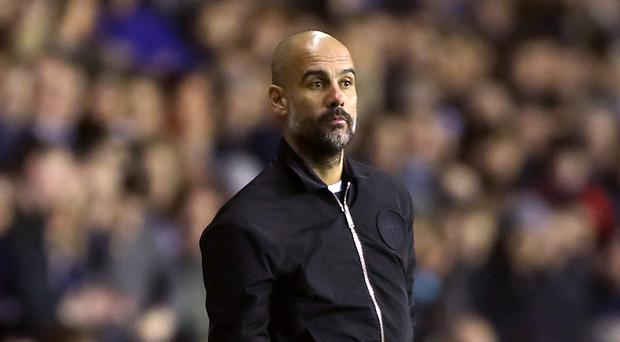 Pep Guardiola is seeking his first trophy in English football