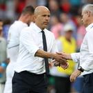 Luigi Di Biagio, left, will be in temporary charge for Italy's forthcoming friendly matches