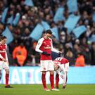 Arsenal's players were accused of not turning up at Wembley