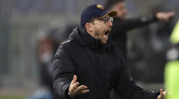 Roma coach Eusebio Di Francesco accused his players of going missing in the second half against AC Milan