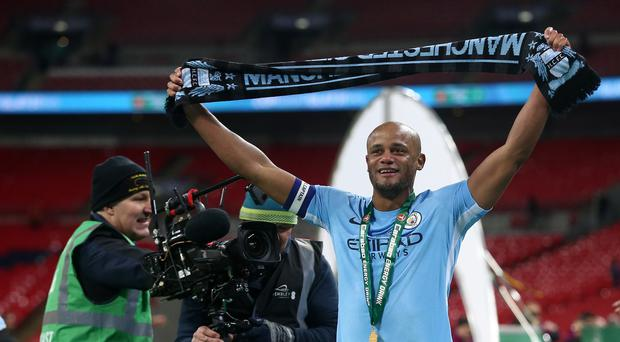 Manchester City captain Vincent Kompany was the inspiration for their Carabao Cup success