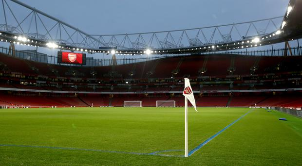 Arsenal have painted their pitch markings blue