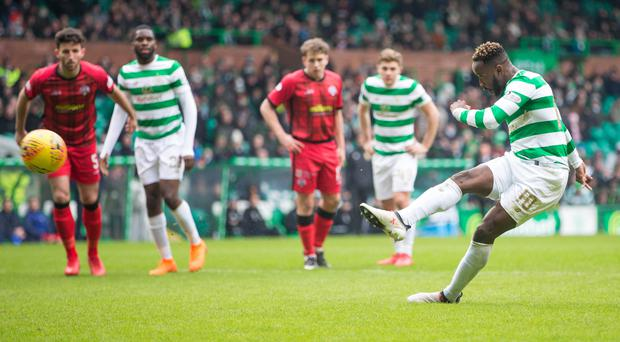 Moussa Dembele scored twice for Celtic