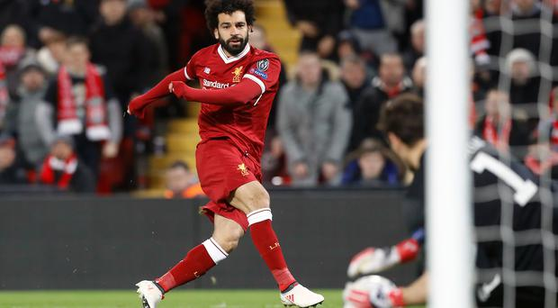 Mohamed Salah was given a late run-out against Porto