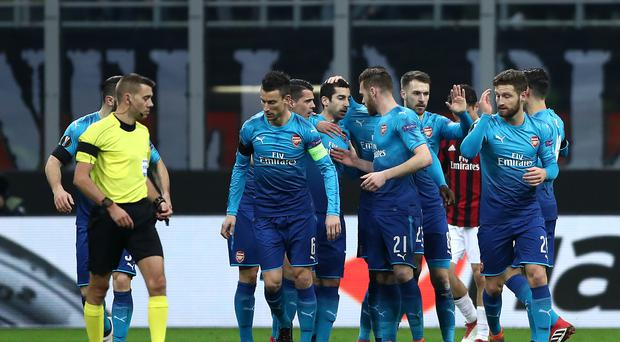 AC Milan v Arsenal – UEFA Europa League – Round of 16 – First Leg – San Siro