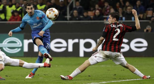 Henrikh Mkhitaryan netted the opener at San Siro