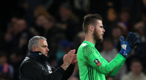 Jose Mourinho (left) has no plans to sell David de Gea