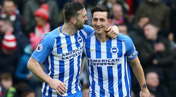 Shane Duffy, left, has backed Lewis Dunk, right, for future international recognition