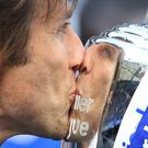 Antonio Conte believes Chelsea's Premier League win last season has been put into perspective by a difficult campaign this term