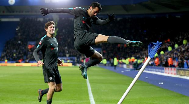 Pedro celebrates the winner