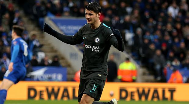 Alvaro Morata ended his goal drought