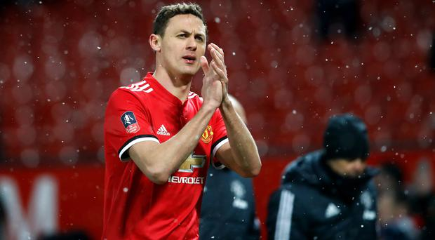 Nemanja Matic applauds the fans after the win against Brighton