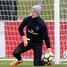 Jordan Pickford will start in goal for England in Amsterdam (Simon Cooper/PA)