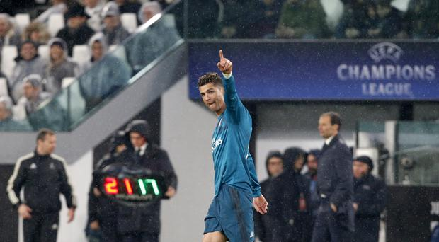 Cristiano Ronaldo scored twice as Real Madrid took control of their Champions League quarter-final against Juventus (Antonio Calanni/AP/Press Association Images)