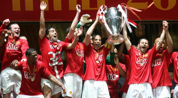 Manchester United beat Chelsea to win the Champions League in 2008